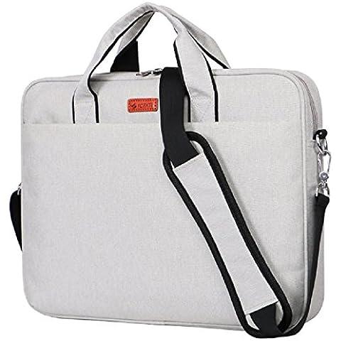 Laptop Bag para portátil de 131415awland multifuncional bolsa de ordenador portátil Maletín de nylon impermeable bolso de mano bolsa de hombro Maletín para portátil Ordenador Portátil Funda para MacBook Air de 131415pulgadas/pro Tablet, Creamy White, 15-15,6 pulgadas