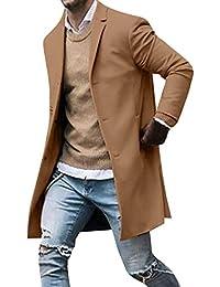 CLOOM Giacca Invernale Cappuccio da Uomo Antivento Uomo Cappotto Giacca  Parka Giubbini Uomo Pulsante Slim Manica 9a814ac5c6c