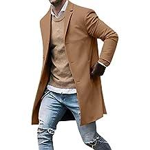 CLOOM Giacca Invernale Cappuccio da Uomo Antivento Uomo Cappotto Giacca  Parka Giubbini Uomo Pulsante Slim Manica 848f68d13ef