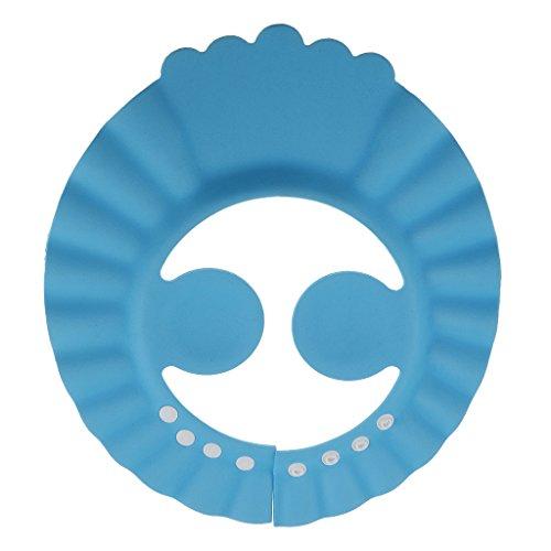 Prettyia Einstellbar Shampoo Bad Augen und Oheren Schützen Weiche Kappe Badeschirm Badehut für Baby, Kinder
