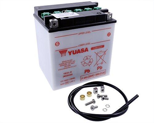 Batterie YUASA - YB30L-B für ARTIC CAT Prowler 1000 1000 ccm Baujahr -13 [inkl. 7,50 EUR Batteriepfand] -