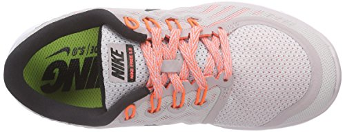Nike Free 5.0, Chaussures de Running Compétition Femme Orange - Orange (Violet Ash/Weiß/Hyper-Orange/Schwarz 508)