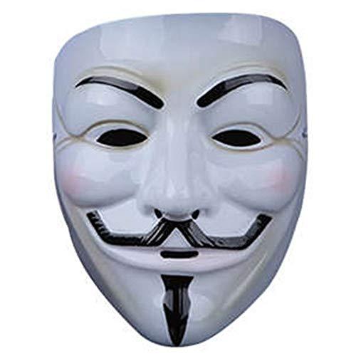 Halloween Kostüm Halloween Cosplay V Geek Maske, Filmthema V Vendetta Maske Maskerade Party Dekoration V Wort Gesicht Erröten Maske Maske (Design : 1)