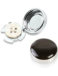 Cubre Botones Negro – La Alternativa a Los Gemelos Para Camisas Ordinarias (Regular - 18mm)