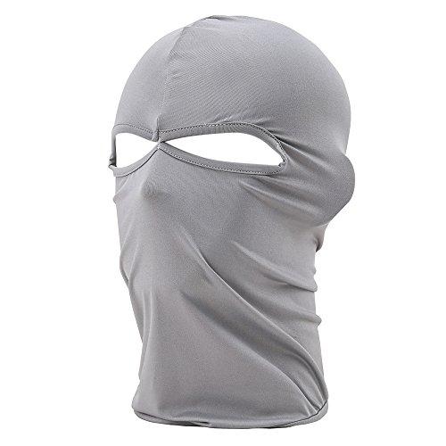 FENTI Multifunktionen Gesichtsmaske aus Lycra 2 Loecher Sport Balaclava Einfarbige Maske Warm...