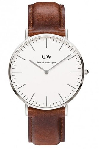 Daniel Wellington Herren Analog Quarz Smart Watch Armbanduhr mit Leder Armband DW00100021