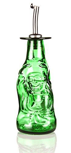 Recyceltem Lucky Buddha Öl Ölspender, Hand Made in Devon Von Glas Reform aus aus recycelten Flaschen. Umweltfreundlich Geschenk. Wir sind den Schöpfern.