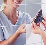 ITPLUS 9PCS Reflektierende Spiegel Wandaufkleber Film Dekorative Spiegel Selbstklebende Fliesen Oberfläche Kreative Dekor Kunst DIY Wandtattoos für Schlafzimmer Badezimmer Decke Dekorationen