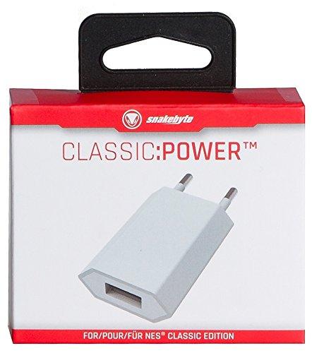 snakebyte SNES/NES Classic:Power Adapter - EU Netzstecker zur Verwendung mit SNES & NES Nintendo Classic Mini Entertainment System