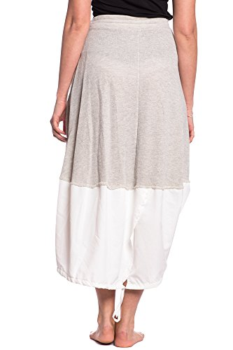 Abbino 278 Röcke Damen - Made in Italy - 2 Farben - Schwingender Knielang  Freizeit Übergang