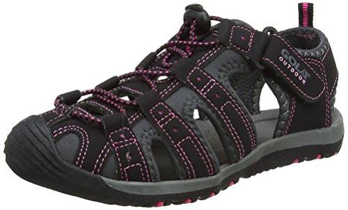 Gola Alp648 Scarpe Sportive Indoor Donna, Nero (Black/Hot Pink) 39 EU