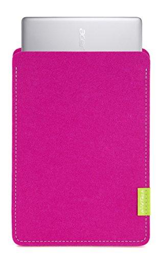 WildTech Sleeve für Acer Chromebook 14 (CB3-431-C6UD) Hülle Tasche aus echtem Wollfilz - 17 Farben (Handmade in Germany) - Pink