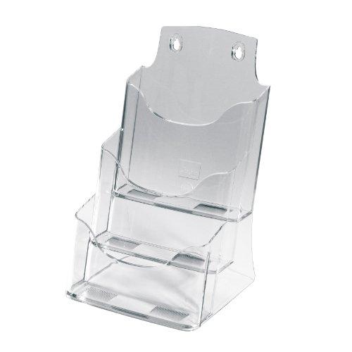 SIGEL LH132 Porta-depliant da tavolo, in acrilico, con 3 tasche per A5, 1 pz.