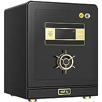 Gabinete Cajas fuertes Inicio pequeña caja fuerte de oficina de acero de 50 cm de alta seguridad inteligente 3C seguro certificado Para documentos de identidad ( Color : Negro , tamaño : 50x35x40cm )