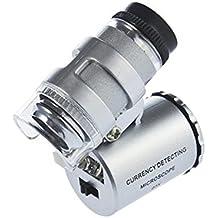 Minilupa de joyería 60 aumentos TRIXES; microscopio de aumento con luz