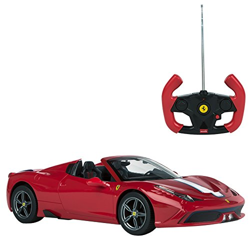 Rastar - Coche teledirigido 1:14 - Ferrari 458 Speciale capota retráctil (ColorBaby 41219)