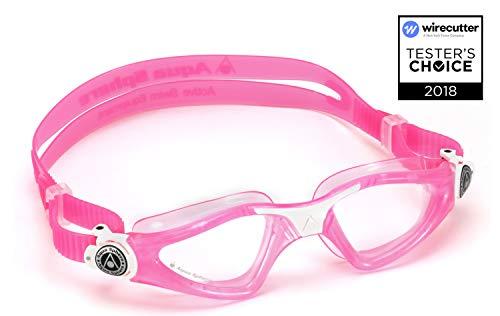 Aqua Sphere Unisex-Baby Kayenne Junior Schwimmbrille, Klare Gläser-Pink/Weiß, One Size