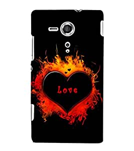 EPICCASE heart in fire Mobile Back Case Cover For Sony Xperia SP (Designer Case)
