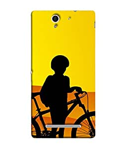 Fuson Designer Back Case Cover for Sony Xperia C3 Dual :: Sony Xperia C3 Dual D2502 (Athelet Child Children Fit Gaffiti Clipart Desert Boy)