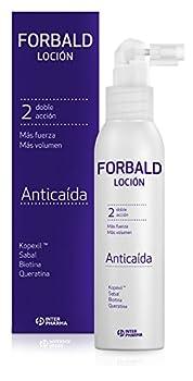 FORBALD – Loción anticaída cabello indicado para hombre y mujer. Doble acción: frena la caída del pelo y estimula su crecimiento – 125 ml