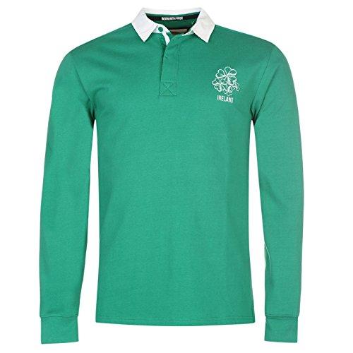Team Herren Rugby Langarm Trikot Polohemd Freizeit Verschiedene Farben Irland