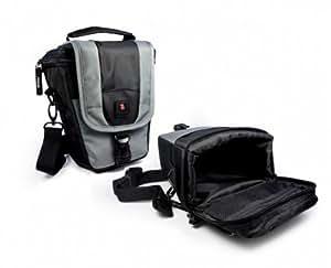 Tuff-Luv ZipNGo Etui / Housse Téléscopiques pour appareil photo numérique SLR & objectif court / taille: 2 / couleur: Gris / compatible avec (Fuji Finepix X-Pro1, X-E1, X-E2, X-M1, X-A1, XF1, X100s, X-S1, X20, XQ1, XF1 S1, SL1000, S9200, S9400, S8600, S8600W, S8200, S6800, S4800 F900EXR, F770EXR, F660EXR, T550, T500, T400, T350 XP200, XP170, XP150, XP70, XP60 Real 3D, J2700, Ju520, Jx660, AX650 HS20EXR HS30EXR HS25EXR SL300 SL280 SL240 X100 X100S, X20, HS50EXR, SL1000, S8400W, S8200, S6800)