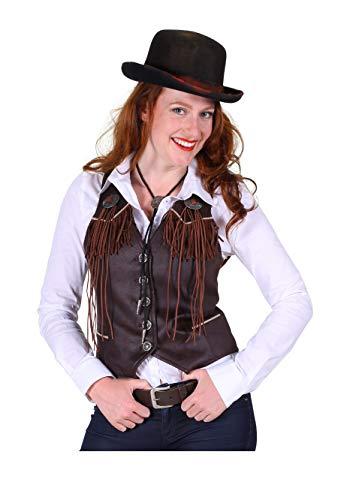 Kostüm Damen Country Western - narrenkiste T2286-1300-XL braun Damen Cowgirl Weste Country Weste Gr.XL