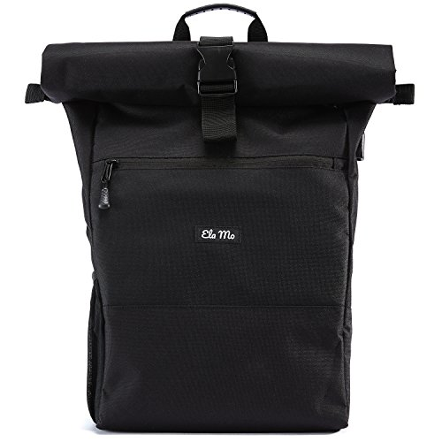 Ela Mo Damen Rucksack Daypack, Black Beautiful