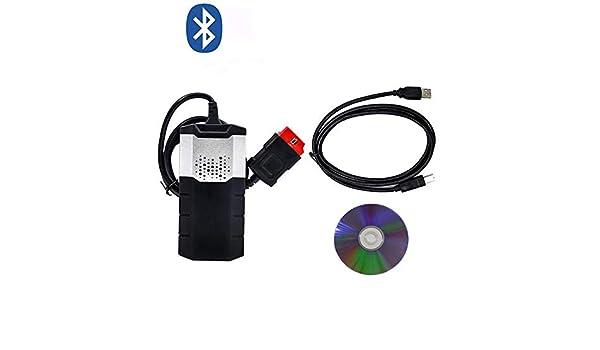 RISHENGD Scanner OBD OBD2 Nouveau Vci TDC CD Pro Plus avec Relais NEC 03R3 Keygen pour Delphi DS150E Outil de Diagnostic de Voiture Bluetooth,Bluetooth