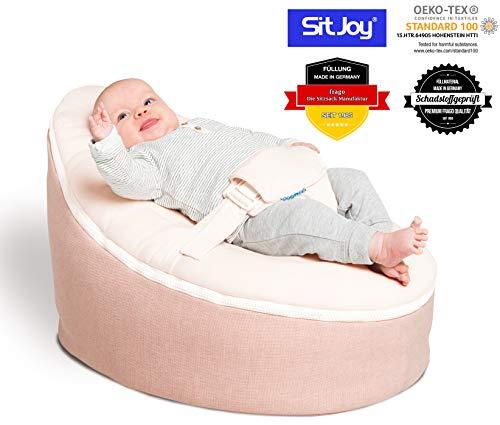 Sitjoy Baby-Sitzsack doomoo | Toxproof-Perlen Füllung | Home Rosa | Liegekissen - Lagerungskissen