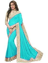 Floral Trendz Women's Chiffon Saree With Blouse Piece.