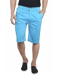 ASHDAN Men's Casual Cotton Blend Shorts (Honeybird, 38)