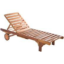 Ultranatura Strathwood Basics - Tumbona de madera dura, color marrón
