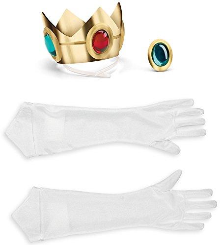 zessin Peach Accessoire-Set Super Mario Videospiel Bunt Einheitsgröße (Prinzessin Peach Accessoires)