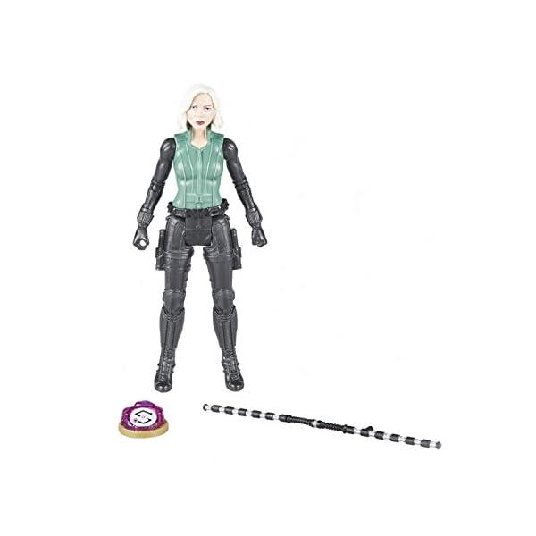 Marvel- Figura Infinity War, Black Widow con Gema y Accesorio (Hasbro E1411EU4) 5