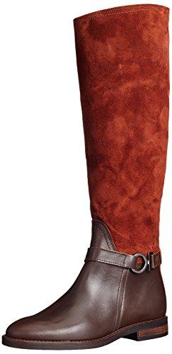 Marc O'Polo Damen Flat Heel Long Boot 70814228002311 Reitstiefel, Braun (Brandy), 39 EU