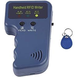 125KHz EM4100 Copieur RFID Tenu dans la Main Carte d'identité portative Copieur Copieur Lecteur/Graveur Duplicateur + Porte-clés