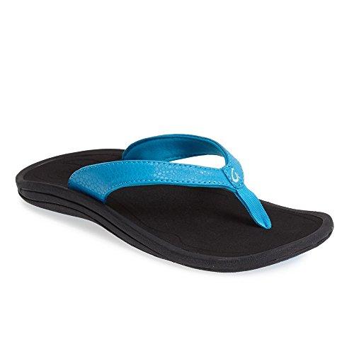 Olukai Nui Sandal–Uomo Blau/Schwarz (Agua/Schwarz)