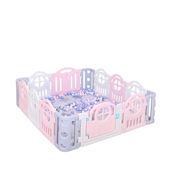 Children's Game Enclosure Assembly Indoor Environmental Protection Fence - 2 Sizes (Size : 180×200cm) FYONG External door opening: the door opening is designed on the outside of the enclosure to prevent the baby from opening the gate of the enclosure himself, and the mother is more comfortable Size: 150 x 180cm, 180 x 200cm, two sizes available A mother's lifesaver: keep the baby safe in the play center when mom/dad needs to cook, clean, go to the bathroom, etc 1