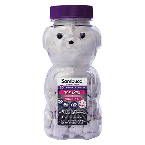 Sambucol Black Elderberry for Kids 60 chewable teddy tablets Test