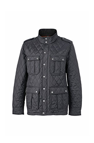 2Store24 Men's Diamond Quilted Jacket in Black Size: XL