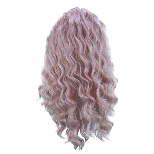 Anney Damen Perücken Perücke Blond stilvoll schick gelockt Lang Haar Wigs für Karneval Cosplay Halloween