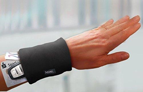 Handgelenktasche schwarz Geldversteck Reißverschluss Geldbörse Pulstasche Armtasche Sport Tasche Tanzen Urlaub Festival orginelle Weihnachtsgeschenke Geschenke für Frauen Männer Damen Herren