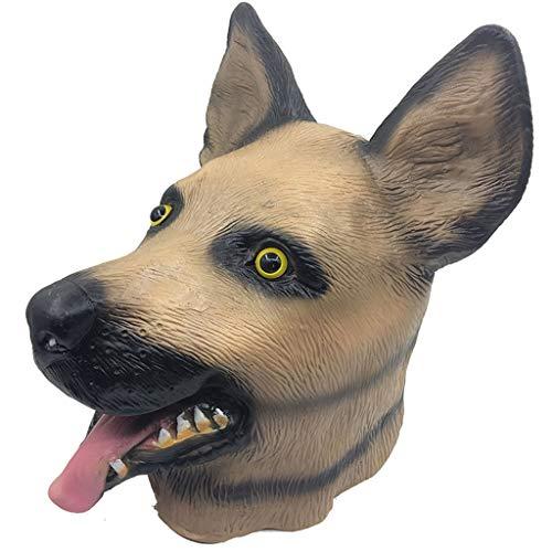 Erwachsene Kostüm Dog Muster Für - Halloween Maske Creepy Dog 's Head Shape Halloween Cosplay Kostüm Latex Maske für Erwachsene Party Dekoration Requisiten 10,2x13,4 Zoll