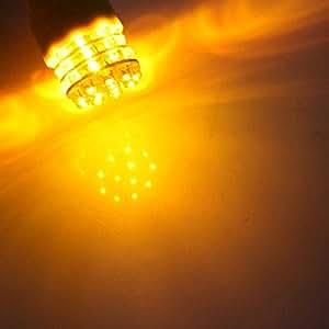 AUDEW T25 3156 12V 39 LED Ampoules Tail Bulbs Feu Arrière Lampe Indicateur Jaune NF