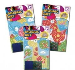 MOSAIC ART MOSAIC BOARD MOSAIC SUARES, GEMS & STAND