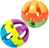 Pet Parrot Toy Colorful Bird Bell Ball For Parakeet Budgie Cockatiel Rabbit Cat Dog Toy Ball