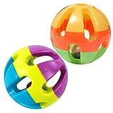 Hundespielzeug Katzenspielzeug Haustier Kauen Spielzeug Ball Kugel Quietsche Squeaky Kunststoff Durchmesser 7.5 cm