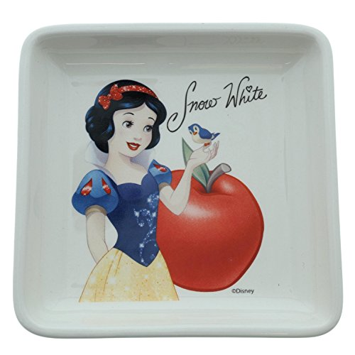 Enchanting Disney A Wishing Apple-Snow White Trinket Tray, Ceramic, Multicolour, 12 x 12 x 2 cm -