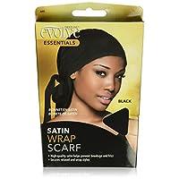 Evolve Satin Wrap Scarf, Black